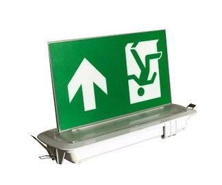 Ceiling Recessed Emergency Led Exit Signs with Ni-Cd battery 3.6V1.8Ah